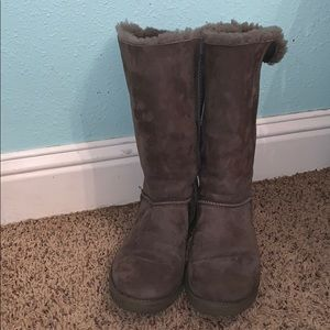 Grey Bailey Bow Uggs